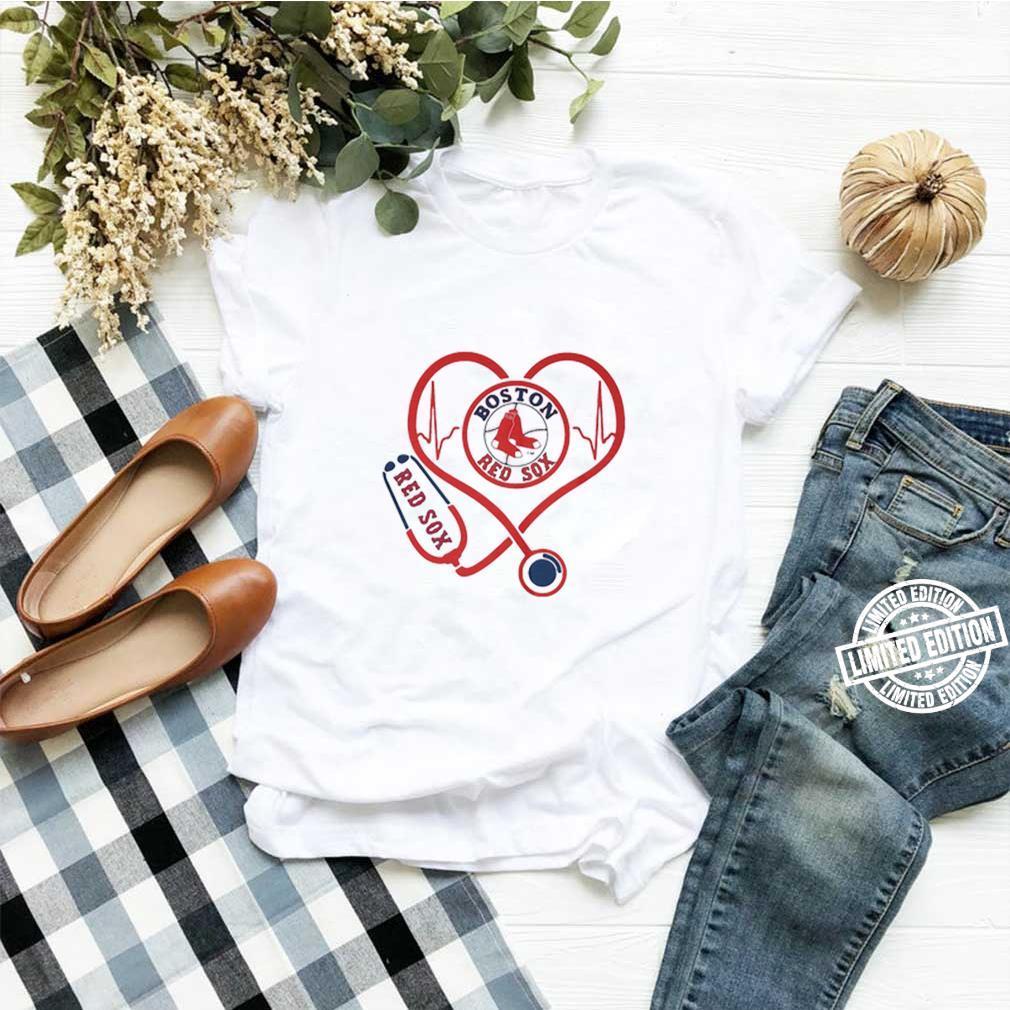 Love Boston Red Sox Stethoscope Heartbeat shirt
