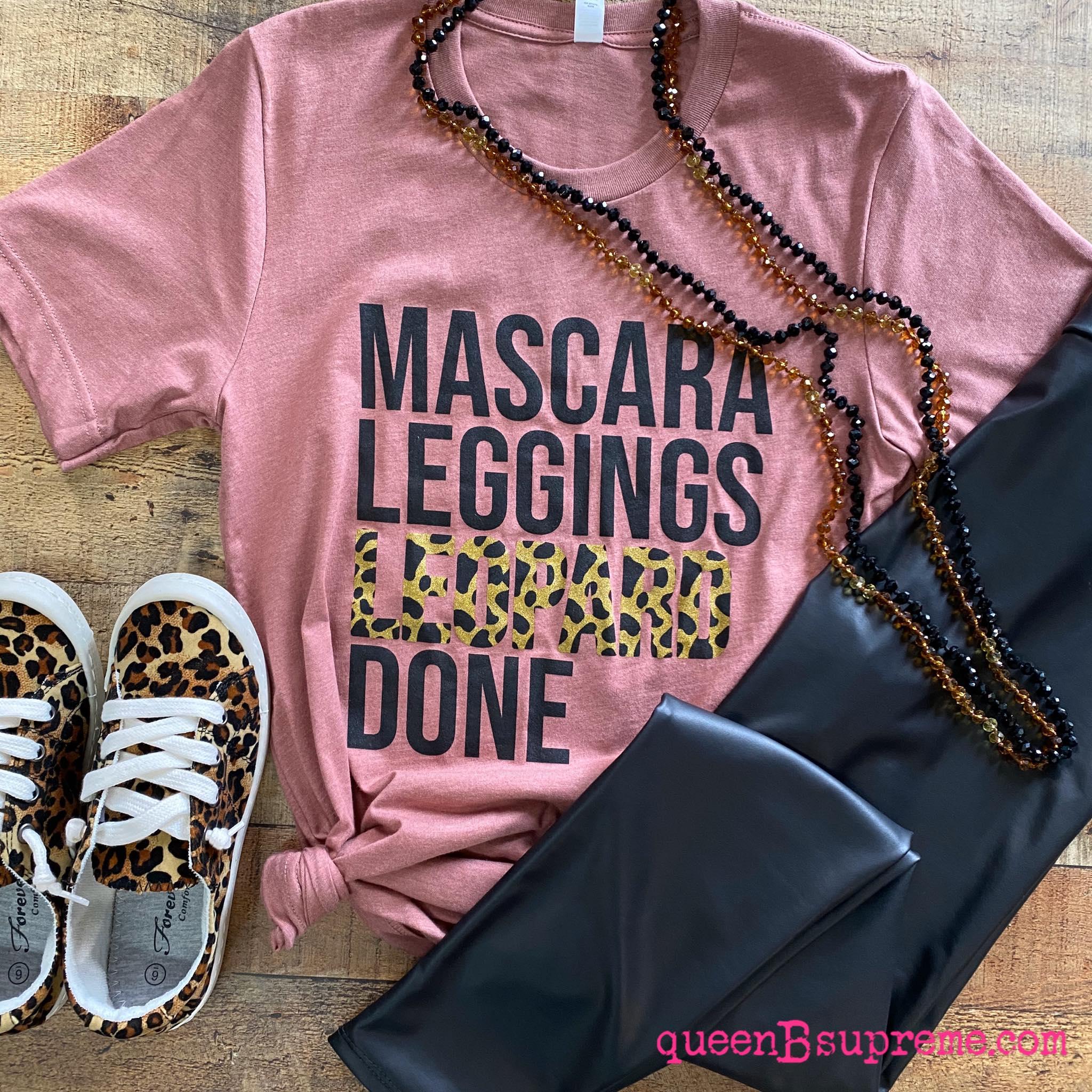 Mascara leggings leopard done shirt