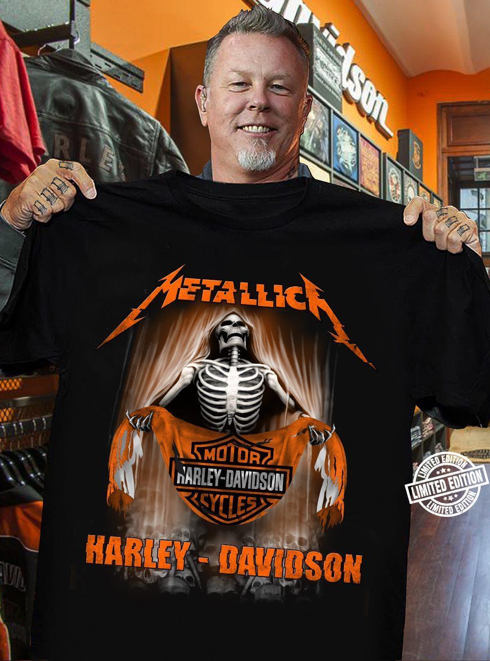 Metallica motor harley davidson shirt