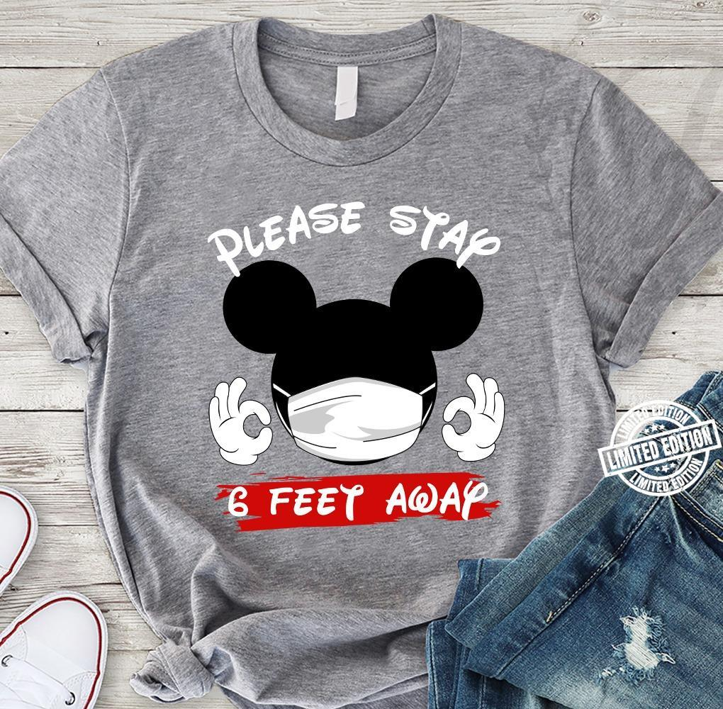 Mickey Mouse Please stay 6 feet away shirt