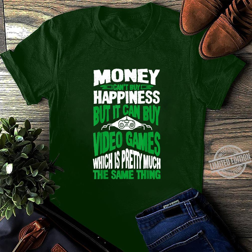 Money Can't Buy Happiness But It Can Buy Video Games Shirt long sleeved