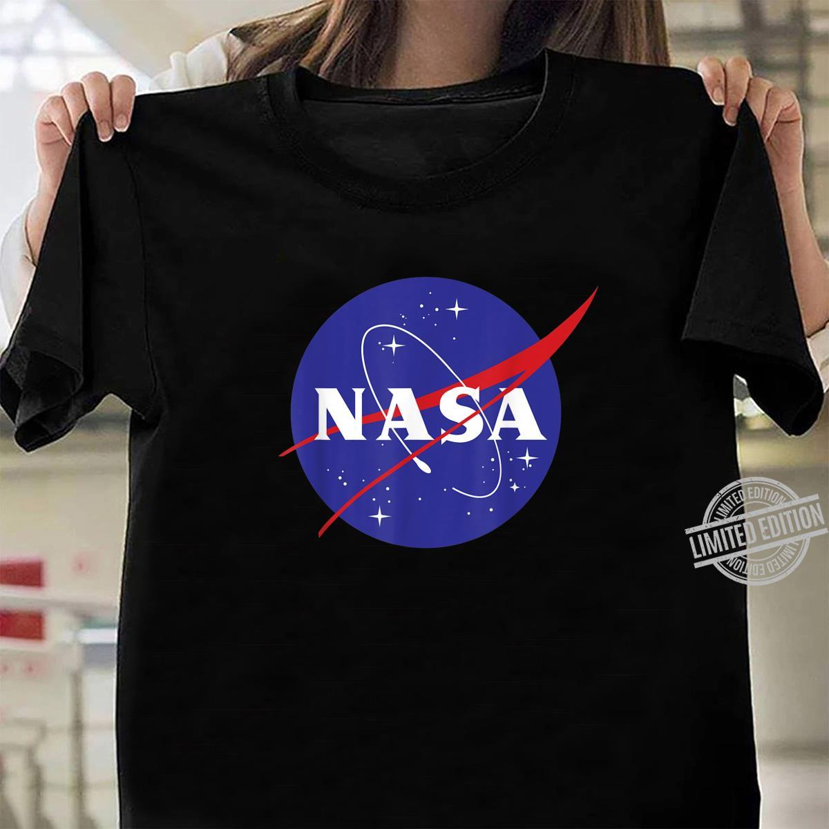 NASA Full Blue Logo C1 Shirt ladies tee