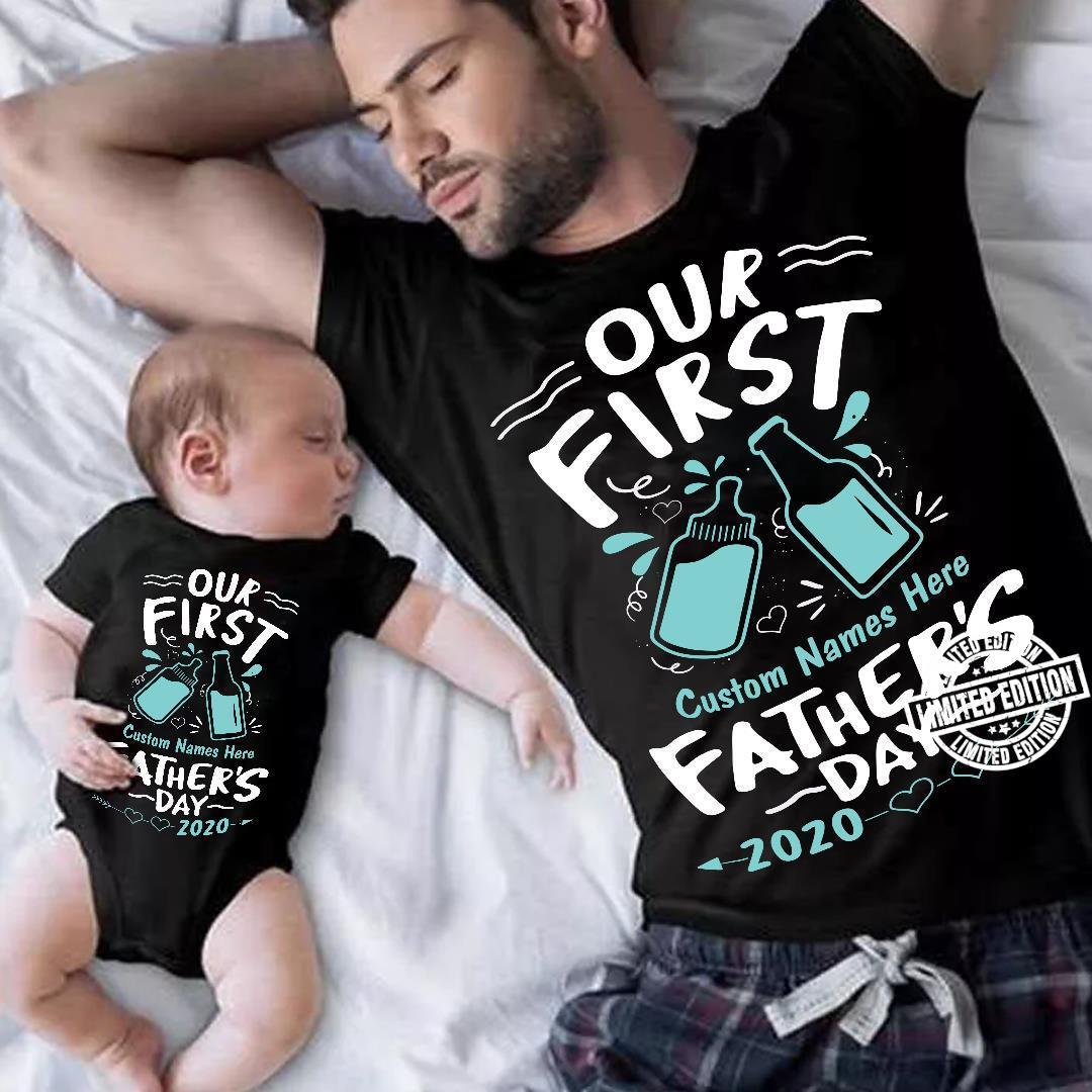 Our first custom names here father's day 2020 shirt