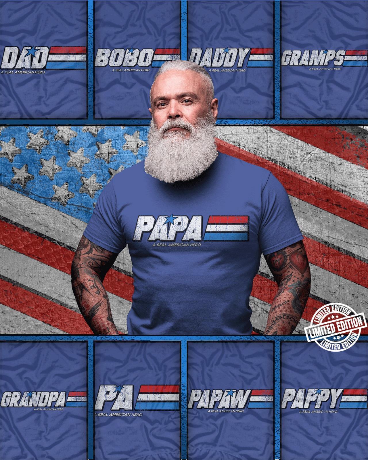 Papa Dad Bobo Daddy Gramps Grandpa Pa Pappy shirt