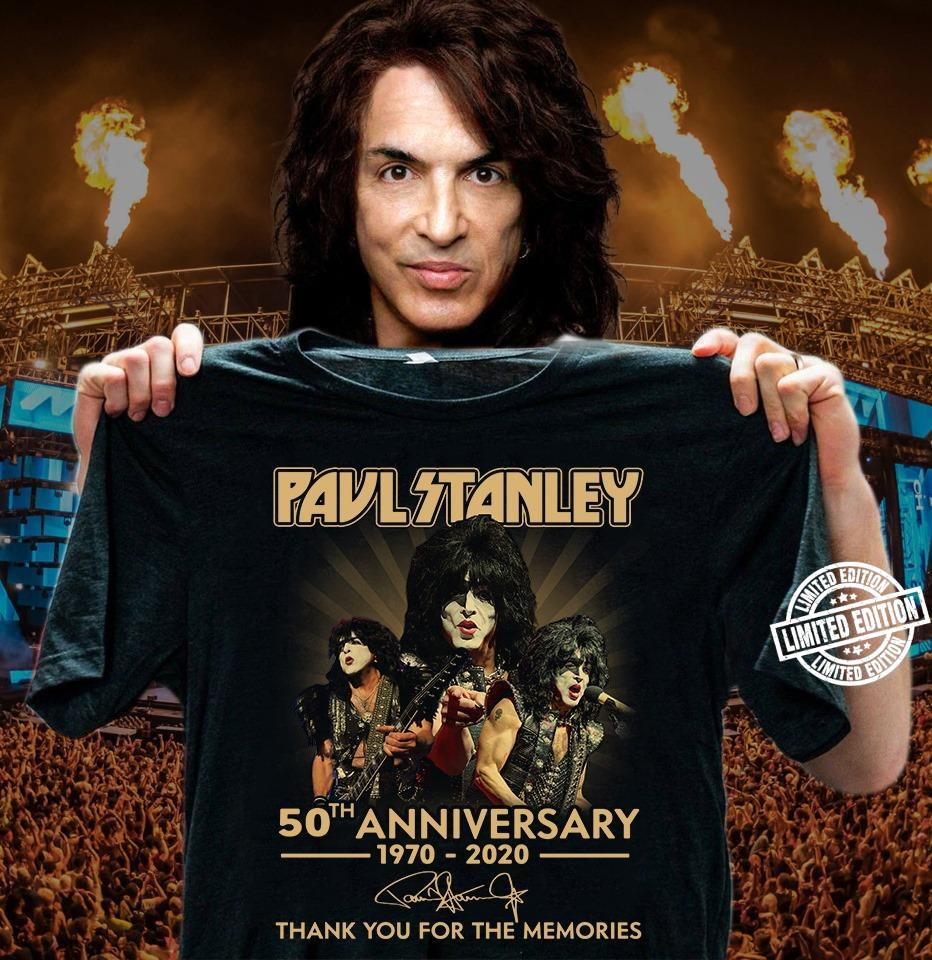 Paul Stanley 50th anniversary 1970-2020 thank you for the memories shirt