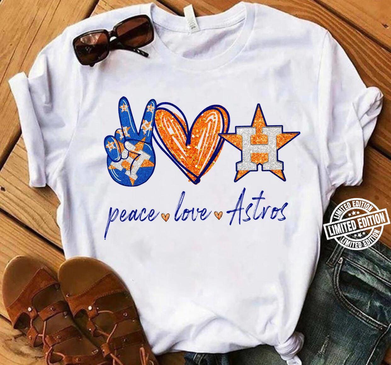 Peace love astros shirt