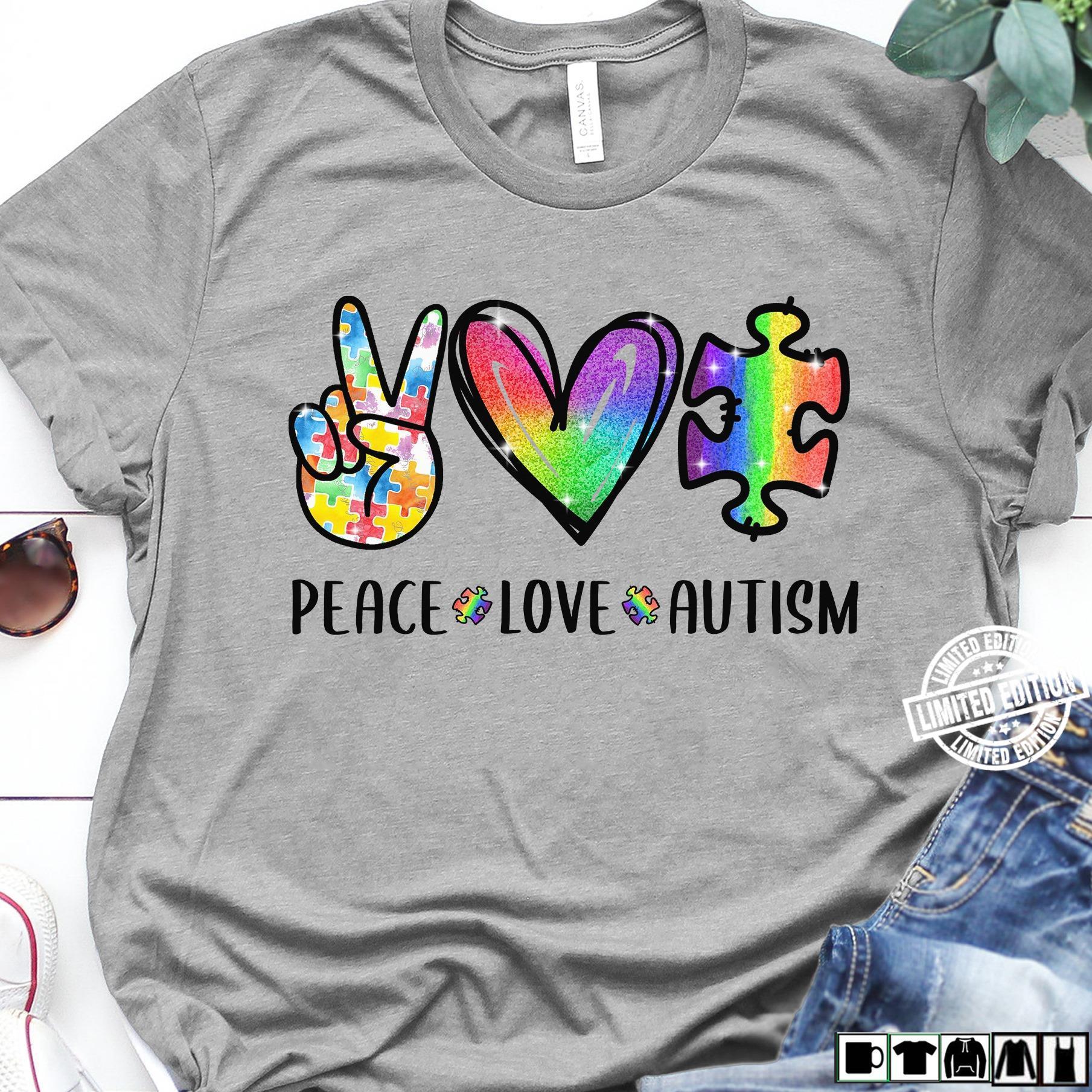 Peace love autism shirt