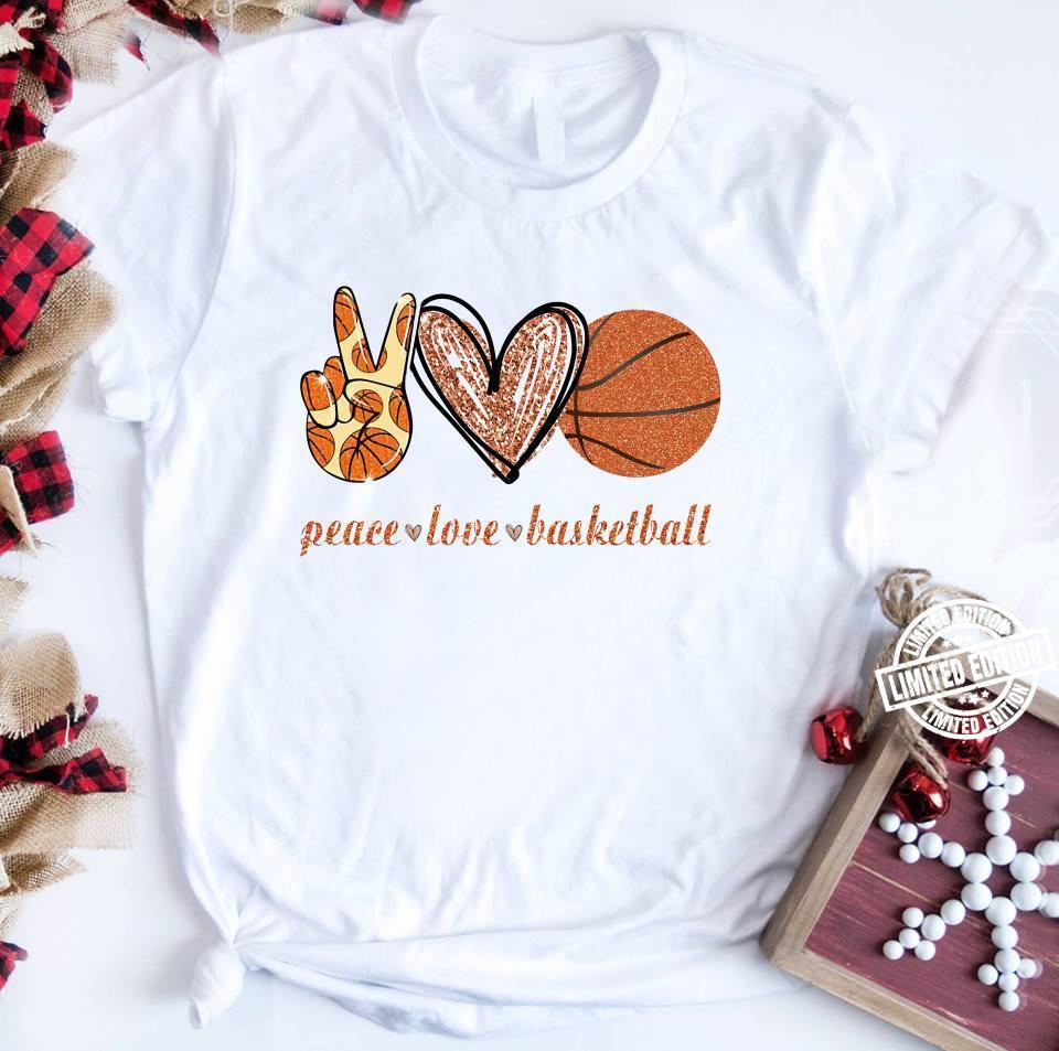Peace love basketball shirt