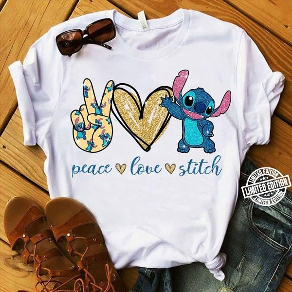 Peace love stitch shirt