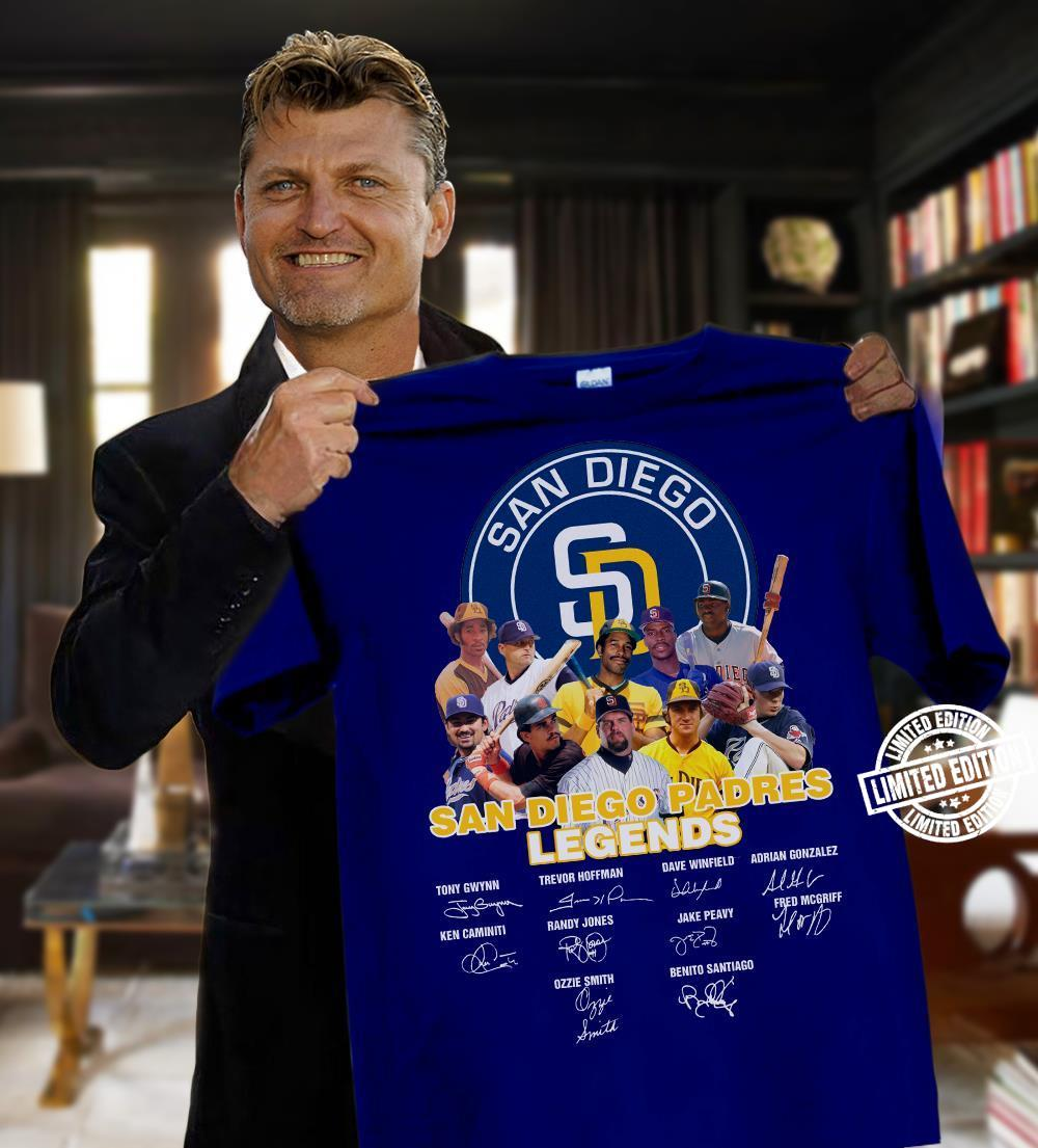 San diego padres legends all signature shirt