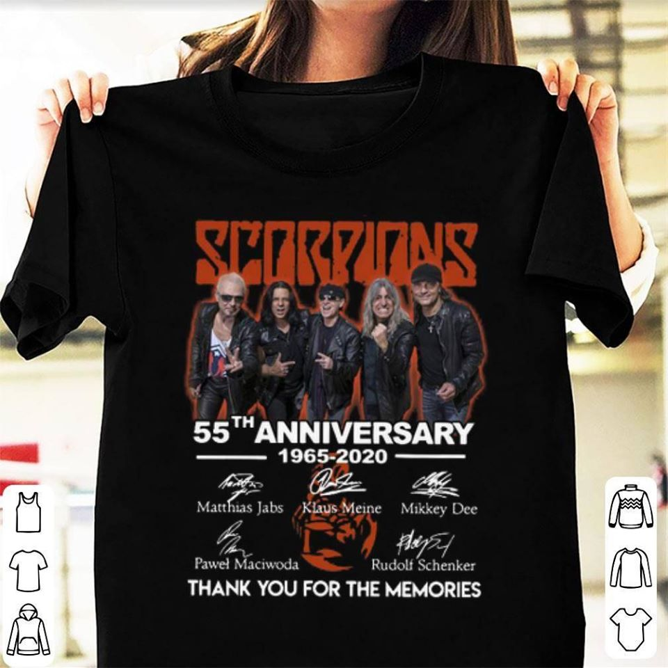 Scorpions 55th anniversary 1965-2020 signature thank you for the memories shirt
