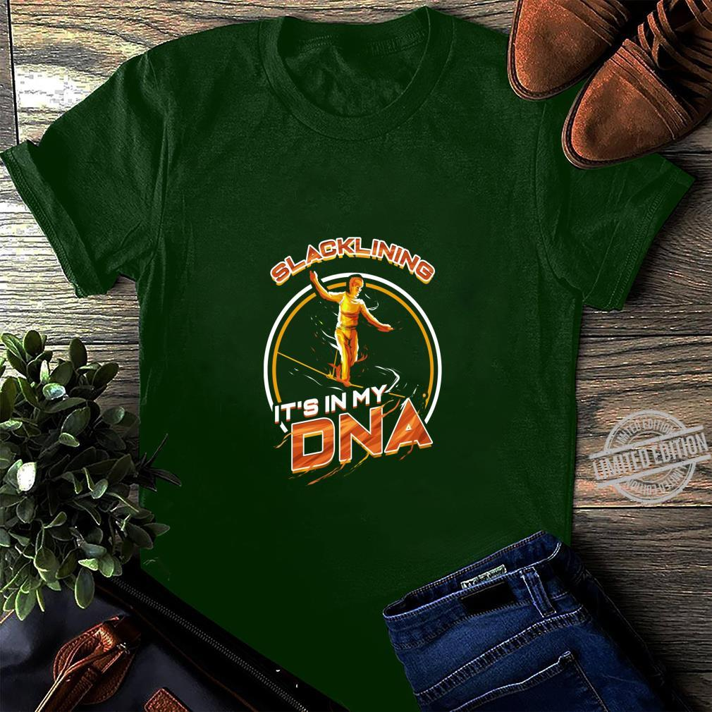 Slackline It's in my DNA Slacken Slacklining Seiltanzen Langarmshirt Shirt long sleeved