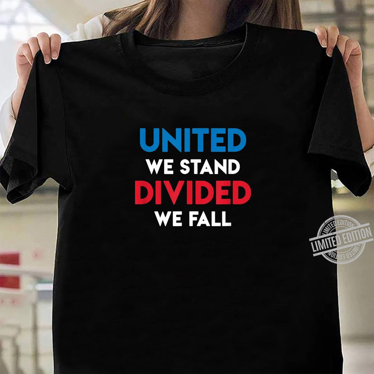 United We Stand Divided We Fall Black Lives Matter, Police Shirt ladies tee