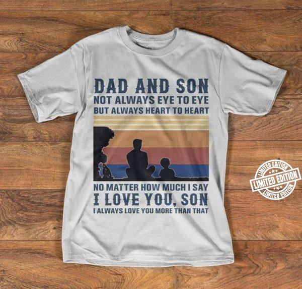 Vintage Dad And Son Family Love Shirt